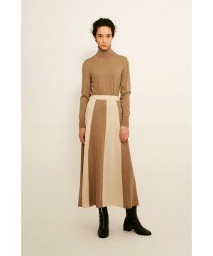 LONG SKIRT BROWN